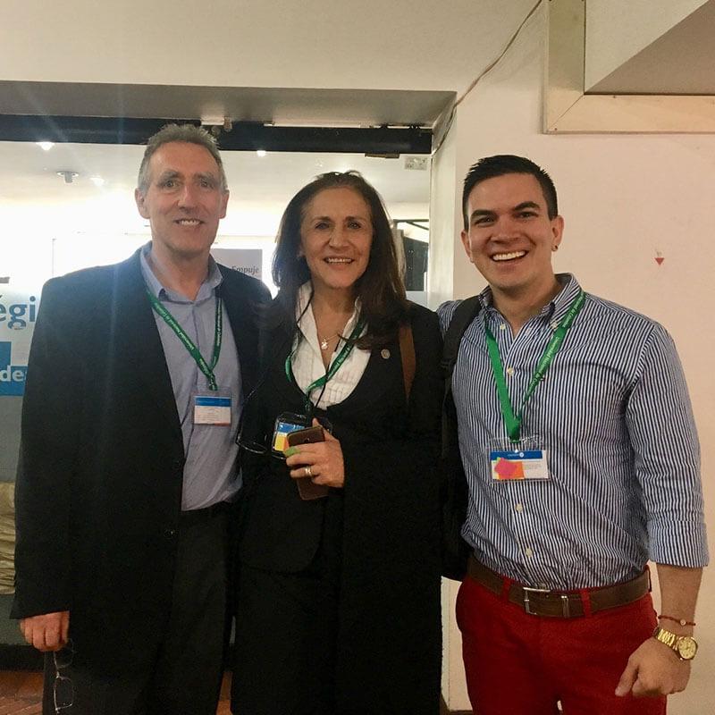 Junto a la Dra. Martha y el Dr. Salomon